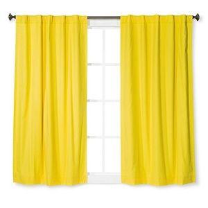 PILLOWFORT Yellow Curtain Panel